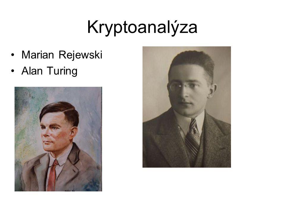 Kryptoanalýza Marian Rejewski Alan Turing