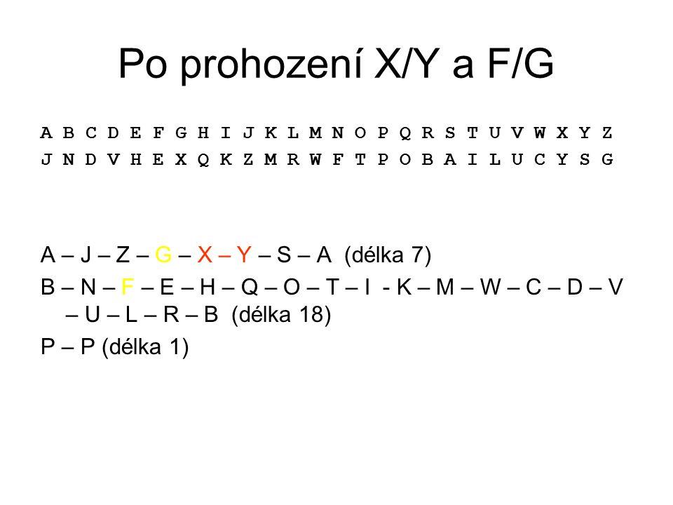 Po prohození X/Y a F/G A – J – Z – G – X – Y – S – A (délka 7)