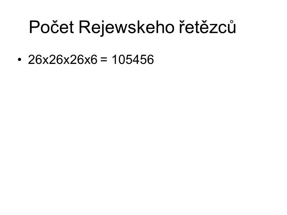 Počet Rejewskeho řetězců