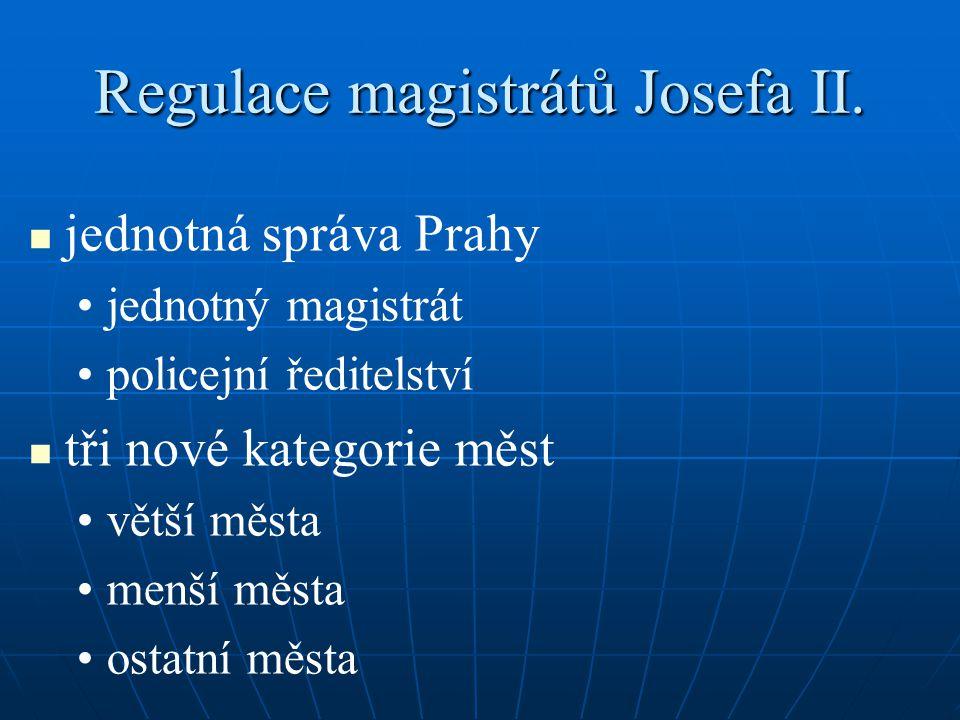 Regulace magistrátů Josefa II.