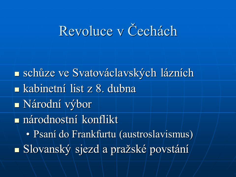 Revoluce v Čechách schůze ve Svatováclavských lázních