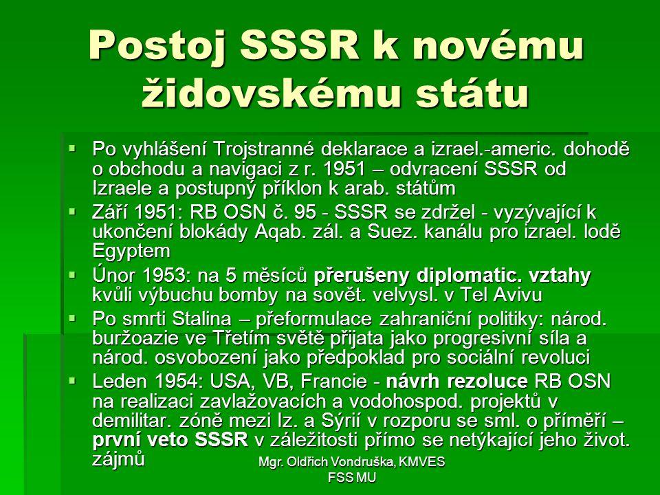 Postoj SSSR k novému židovskému státu