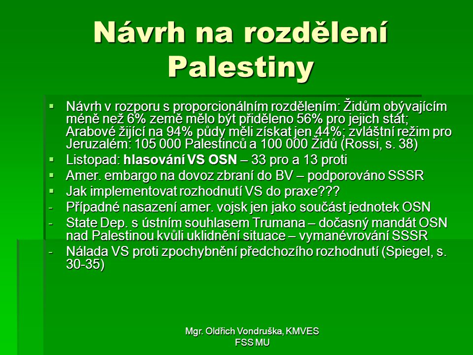 Návrh na rozdělení Palestiny