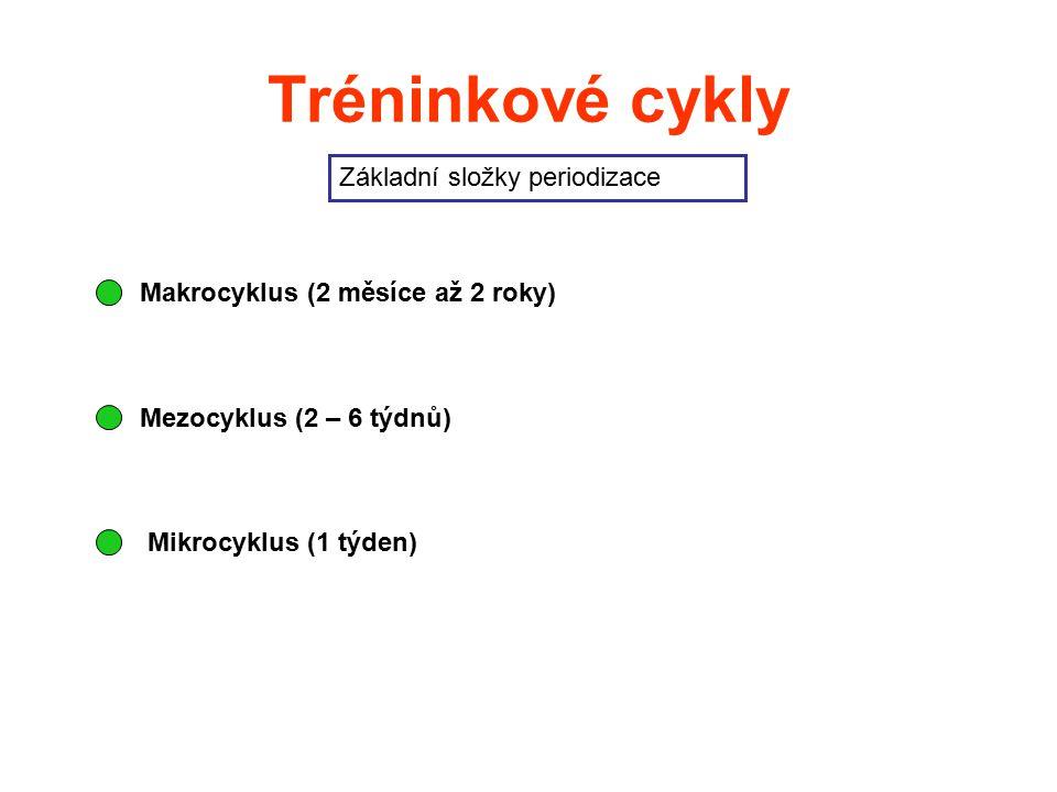 Tréninkové cykly Základní složky periodizace