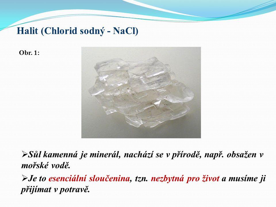 Halit (Chlorid sodný - NaCl)