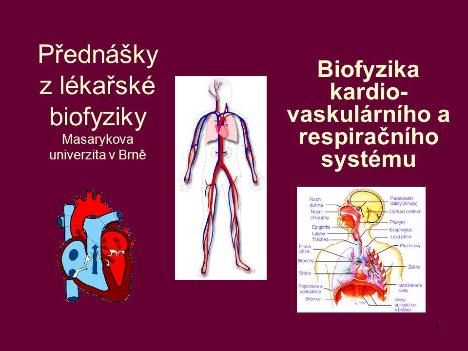 Přednášky z lékařské biofyziky Masarykova univerzita v Brně