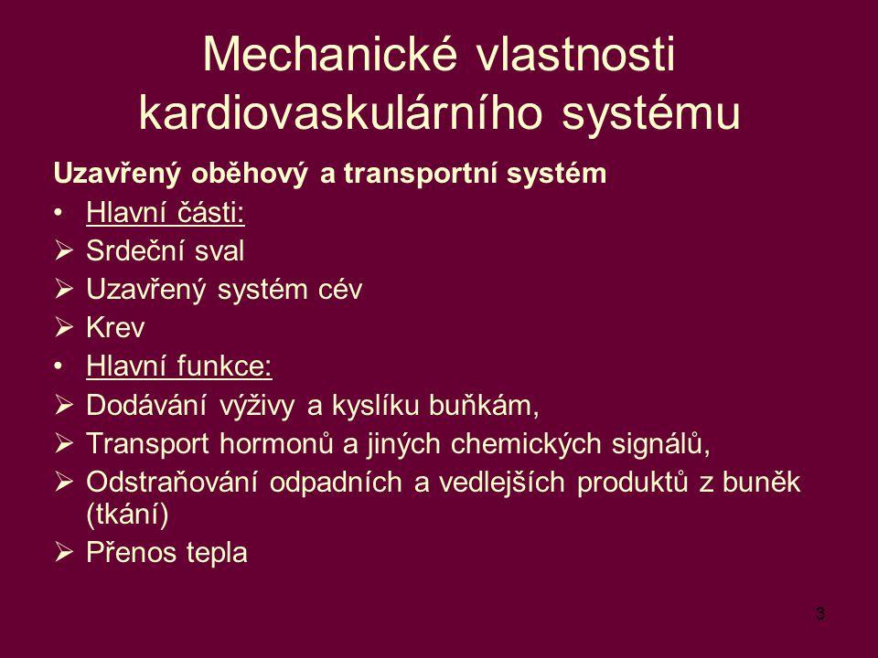 Mechanické vlastnosti kardiovaskulárního systému