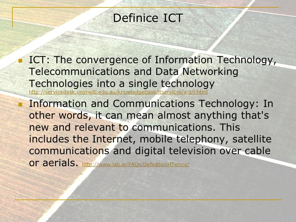 Definice ICT