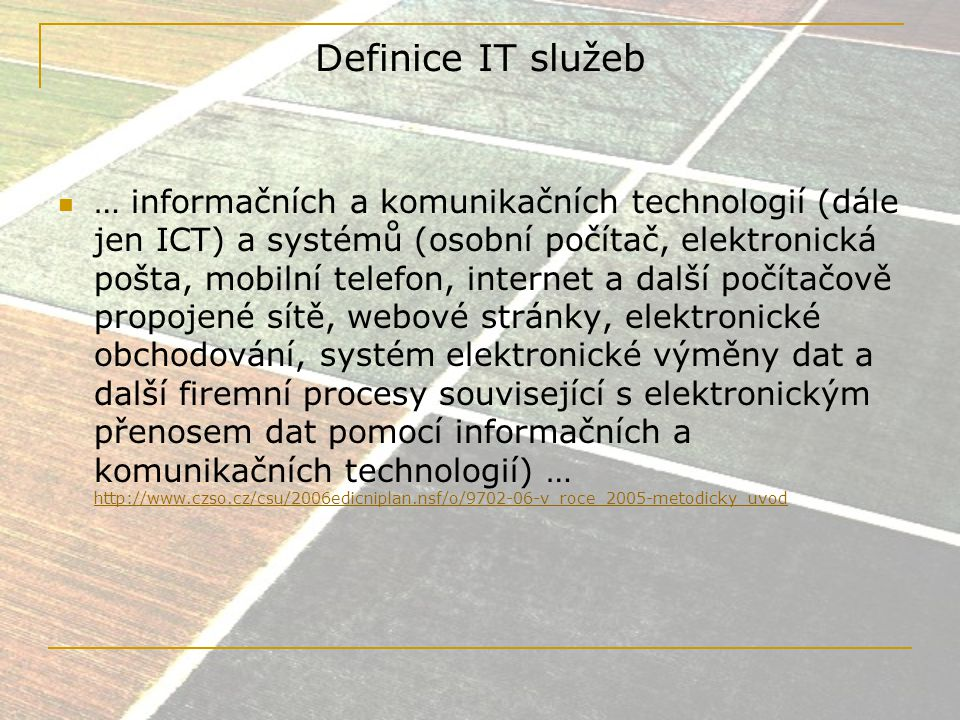 Definice IT služeb