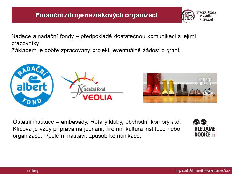 Finanční zdroje neziskových organizací