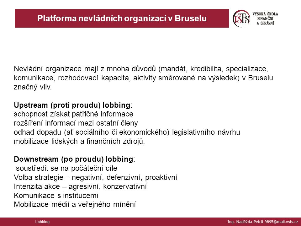 Platforma nevládních organizací v Bruselu
