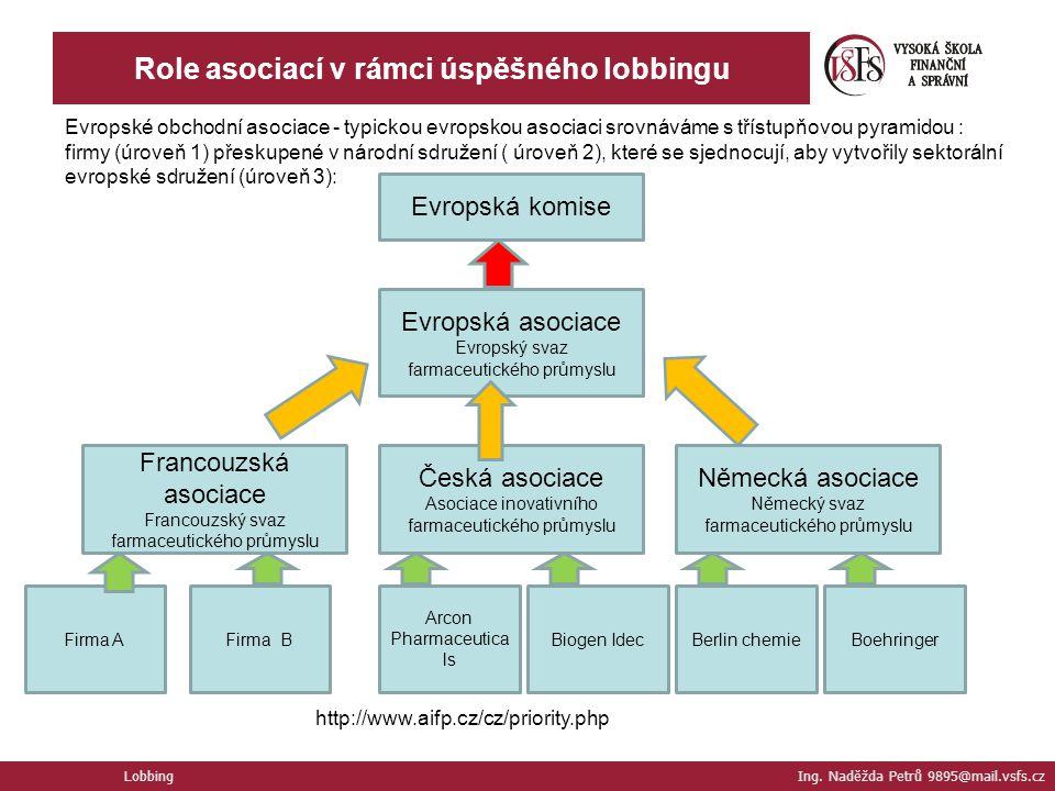 Role asociací v rámci úspěšného lobbingu