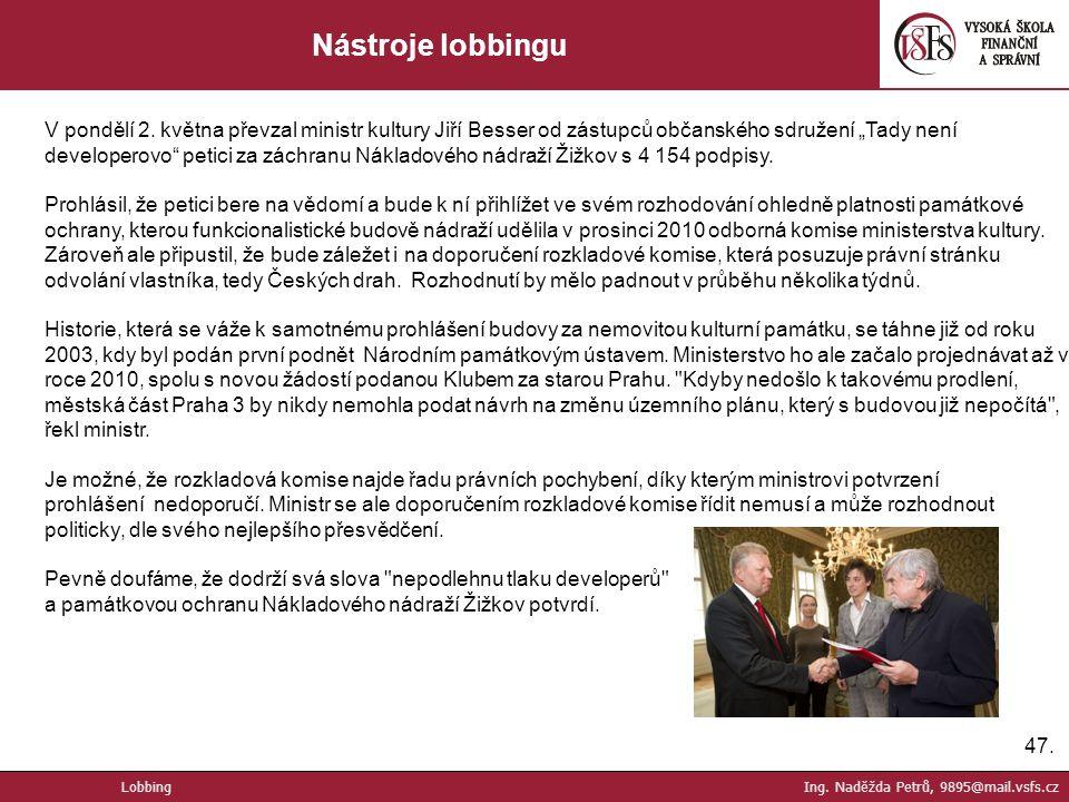Nástroje lobbingu