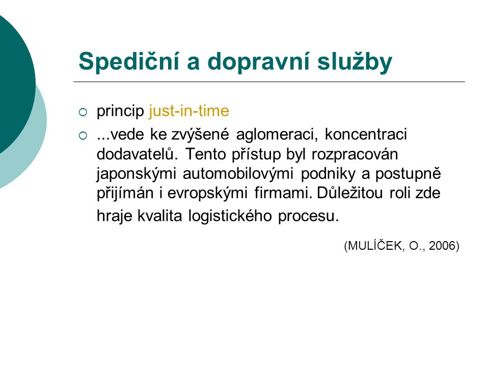 Spediční a dopravní služby