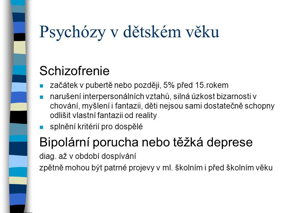 Psychózy v dětském věku