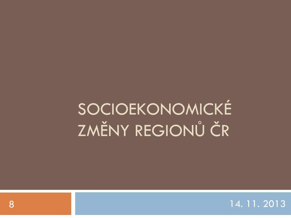 Socioekonomické změny regionů čr