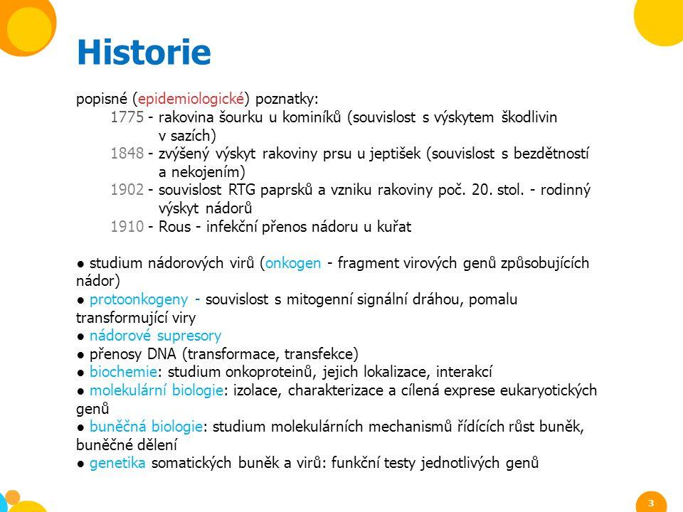 Historie popisné (epidemiologické) poznatky: