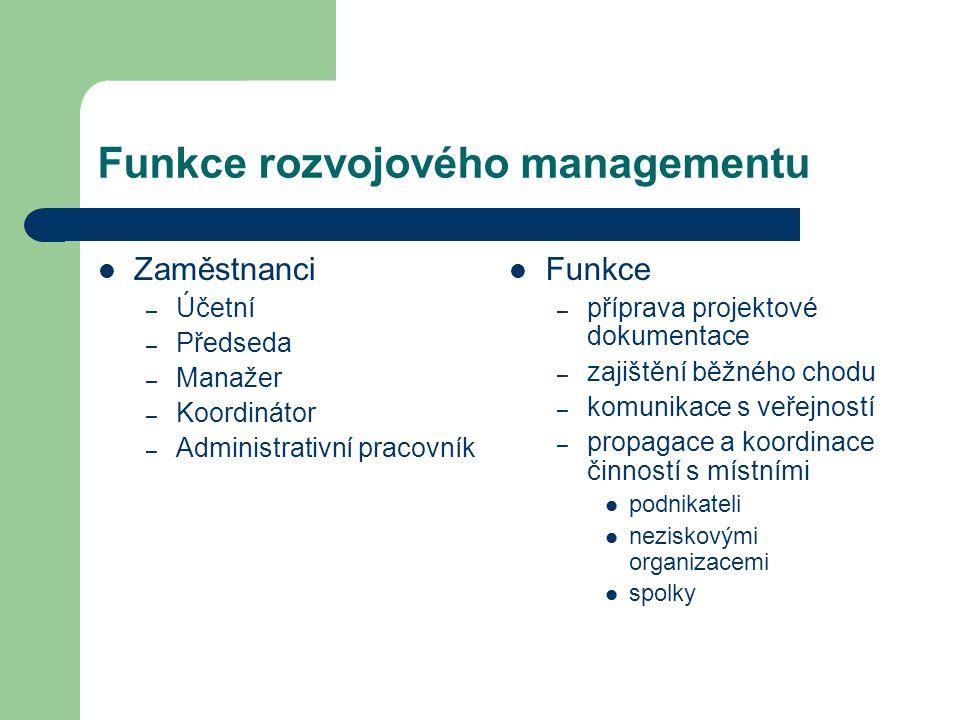 Funkce rozvojového managementu