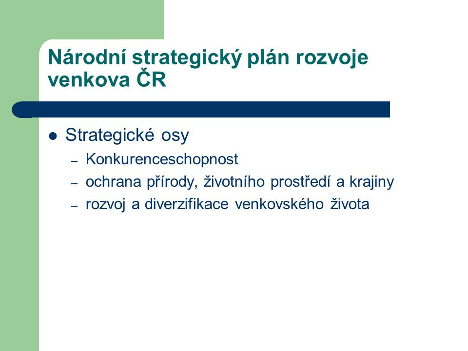Národní strategický plán rozvoje venkova ČR