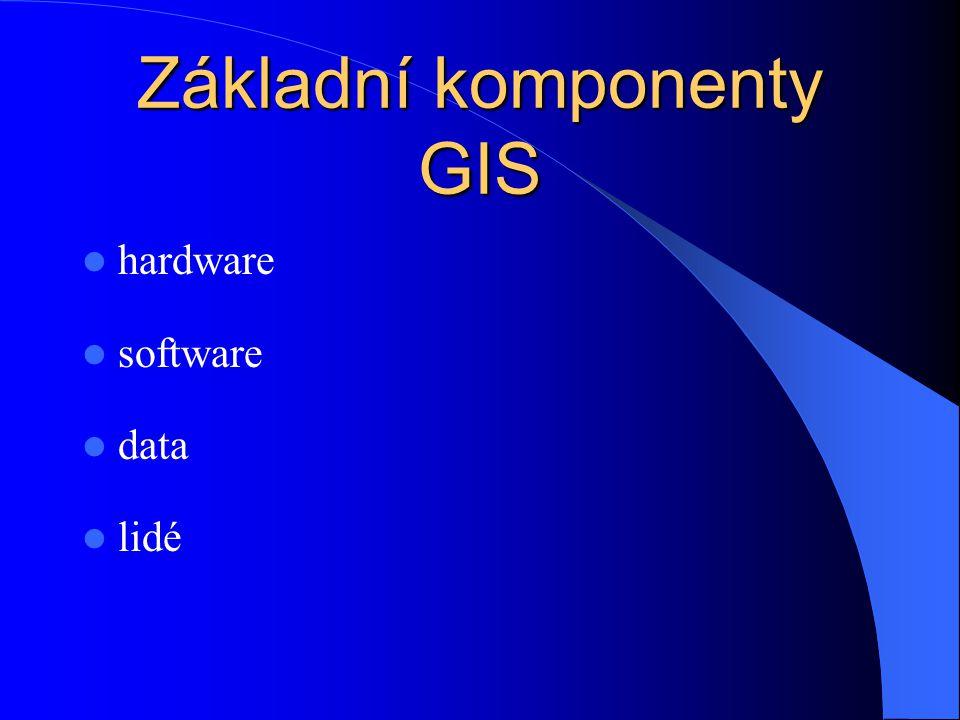 Základní komponenty GIS