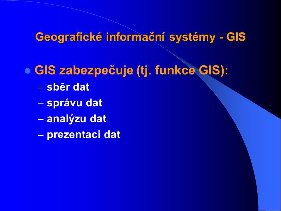 Geografické informační systémy - GIS