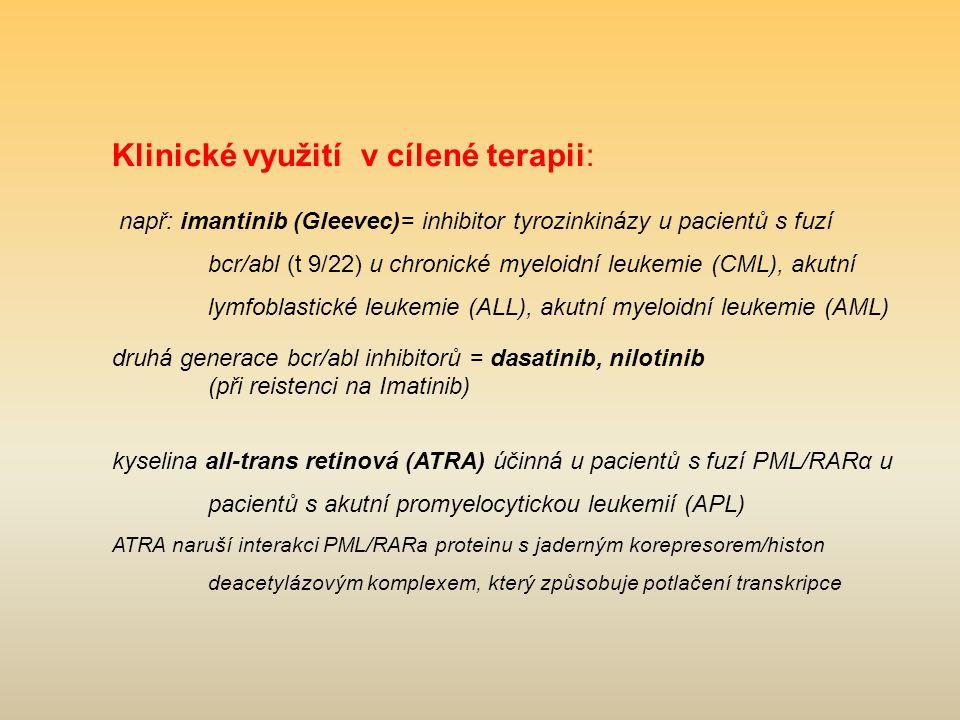 Klinické využití v cílené terapii: