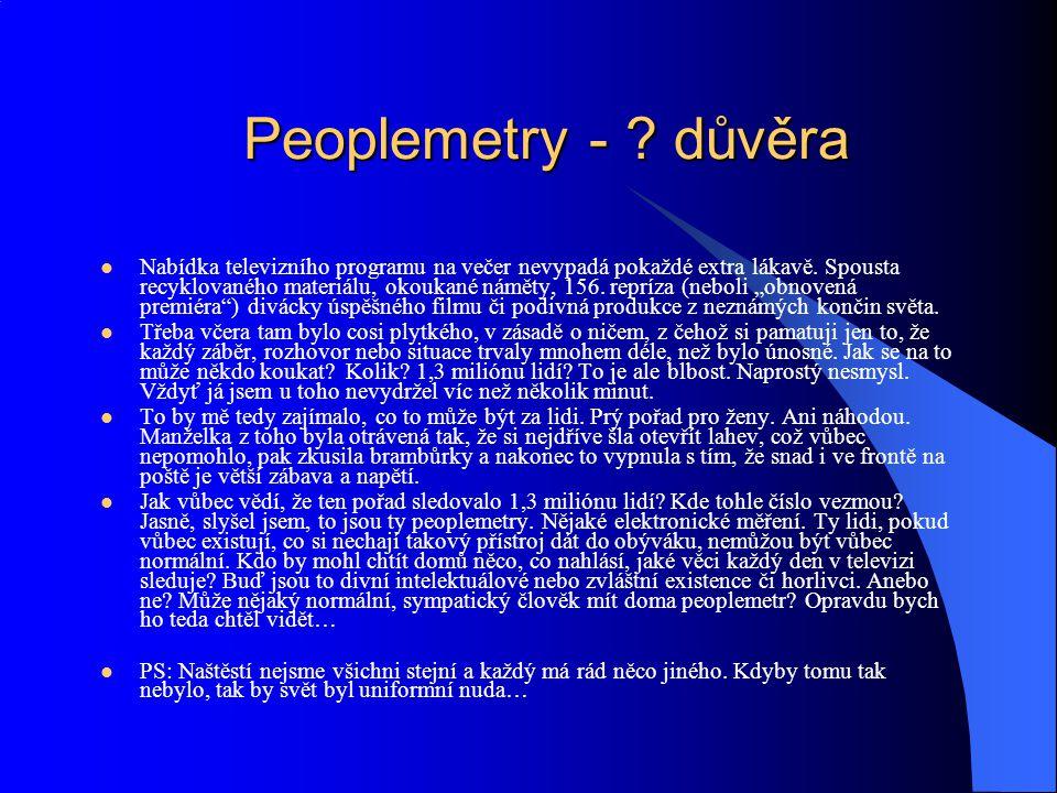 Peoplemetry - důvěra