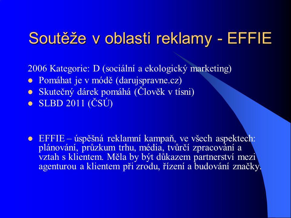 Soutěže v oblasti reklamy - EFFIE