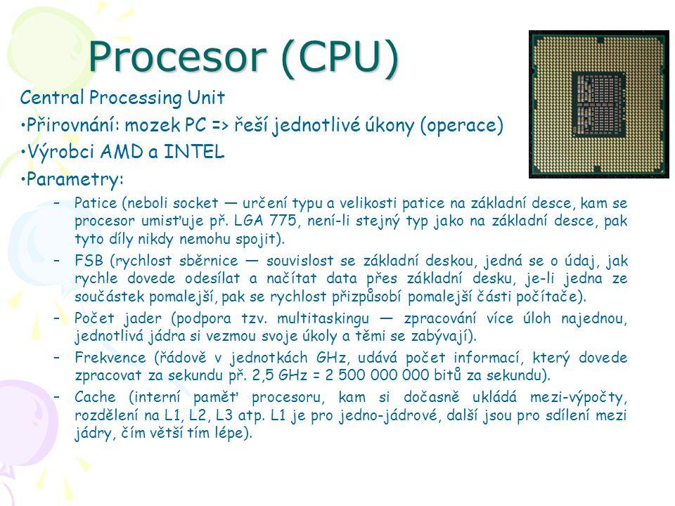 Procesor (CPU) Central Processing Unit