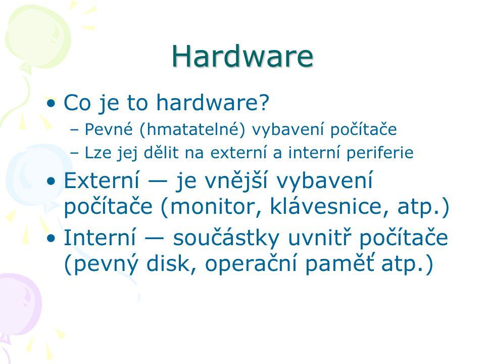 Hardware Co je to hardware