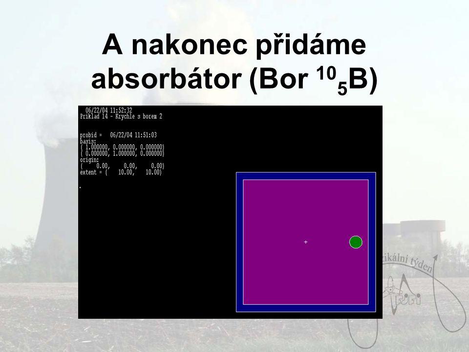 A nakonec přidáme absorbátor (Bor 105B)
