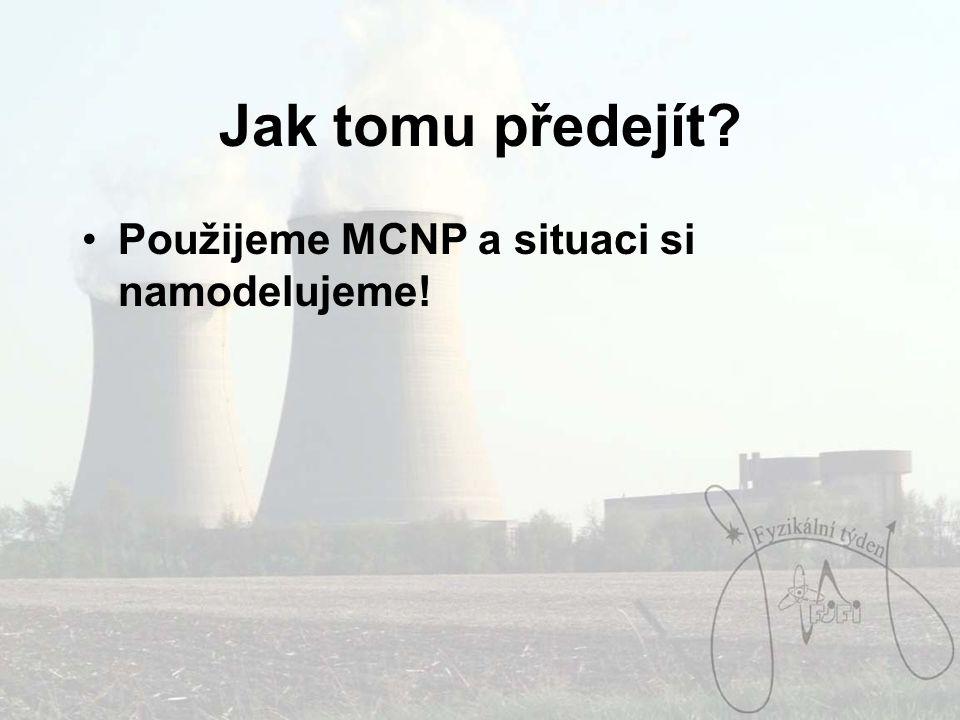 Jak tomu předejít Použijeme MCNP a situaci si namodelujeme!