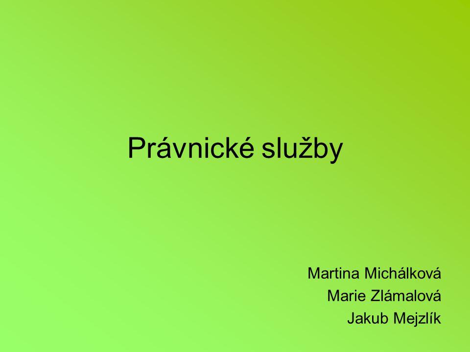 Martina Michálková Marie Zlámalová Jakub Mejzlík
