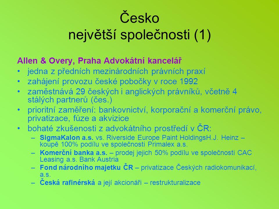 Česko největší společnosti (1)