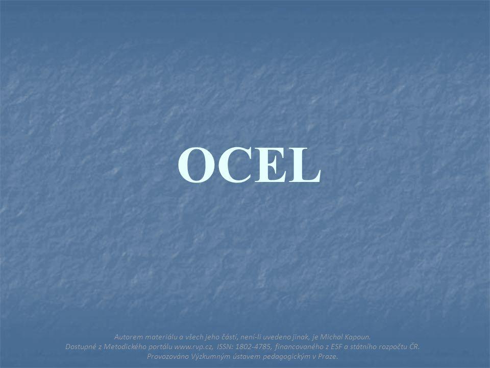 OCEL Autorem materiálu a všech jeho částí, není-li uvedeno jinak, je Michal Kapoun.