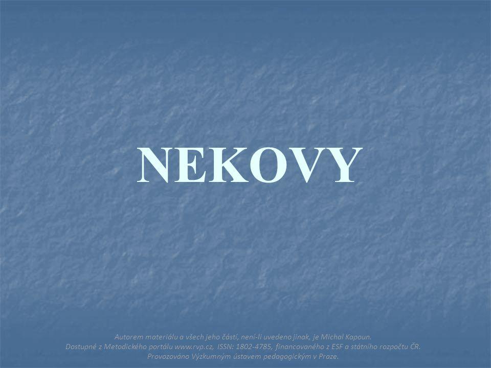 NEKOVY Autorem materiálu a všech jeho částí, není-li uvedeno jinak, je Michal Kapoun.
