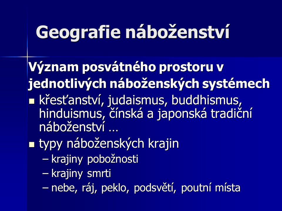 Geografie náboženství