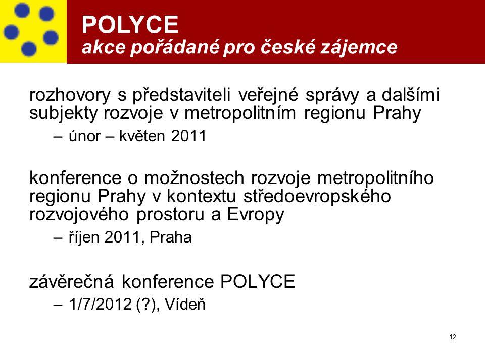 POLYCE akce pořádané pro české zájemce