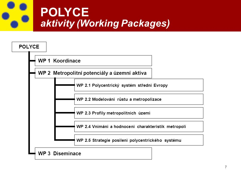 POLYCE aktivity (Working Packages)