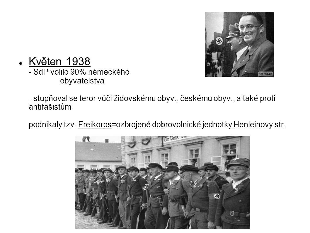 Květen 1938 - SdP volilo 90% německého