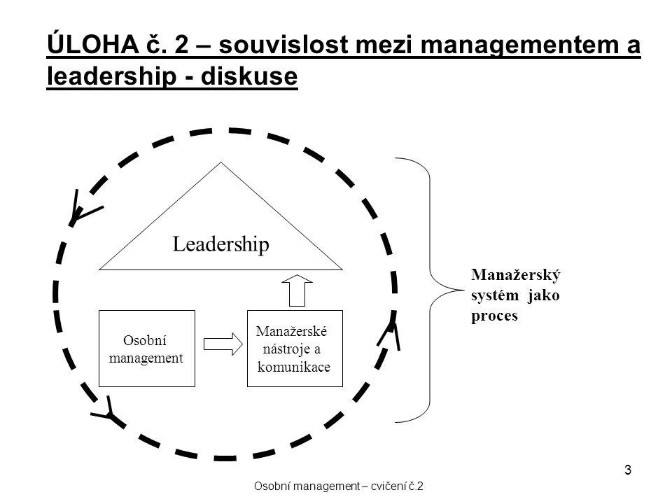 Osobní management – cvičení č.2
