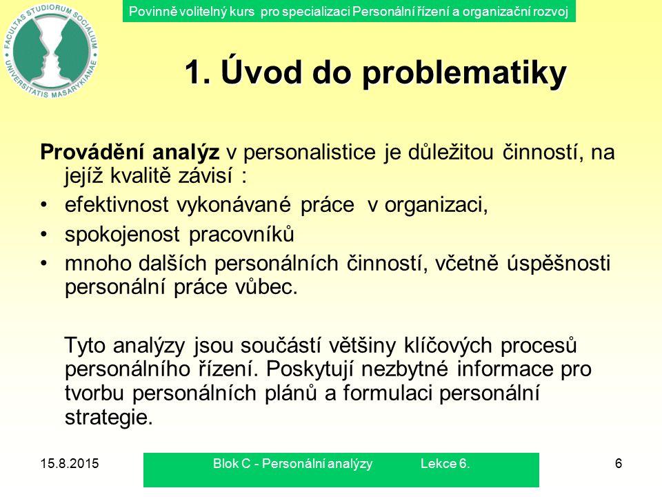 Blok C - Personální analýzy Lekce 6.