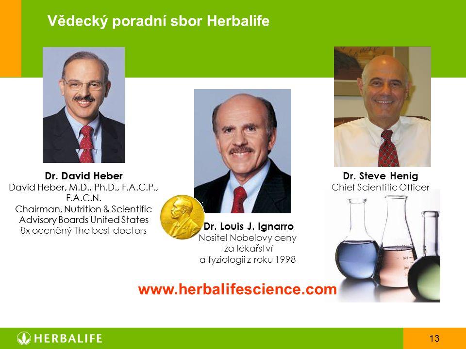 www.herbalifescience.com Vědecký poradní sbor Herbalife