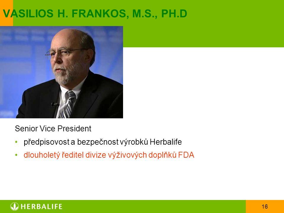 VASILIOS H. FRANKOS, M.S., PH.D