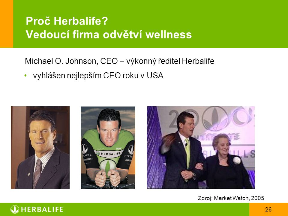 Proč Herbalife Vedoucí firma odvětví wellness