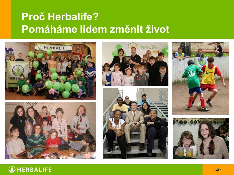 Proč Herbalife Pomáháme lidem změnit život