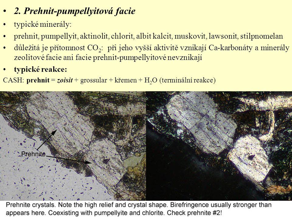 2. Prehnit-pumpellyitová facie