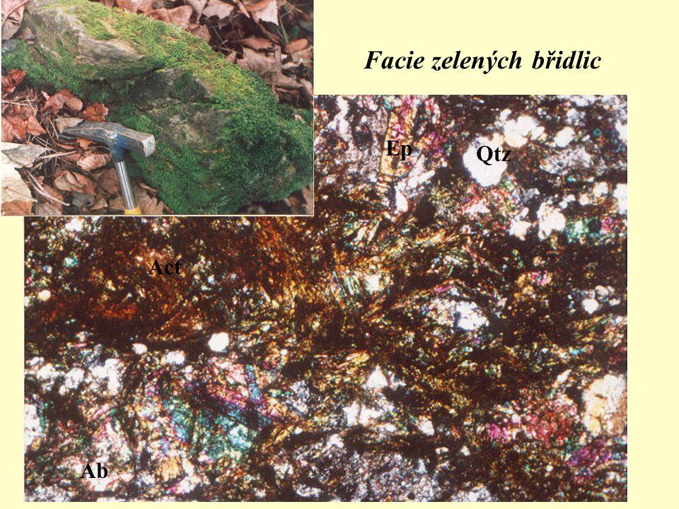 Facie zelených břidlic