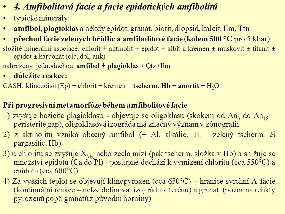 4. Amfibolitová facie a facie epidotických amfibolitů