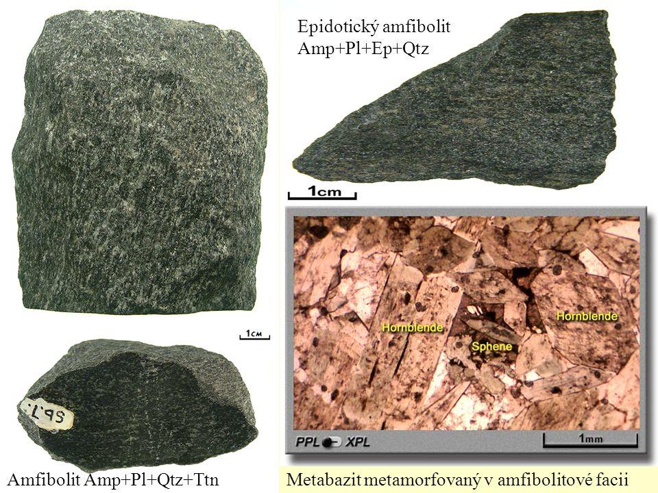 Epidotický amfibolit Amp+Pl+Ep+Qtz